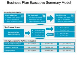 Business Plan Executive Summary Model Good Ppt Example