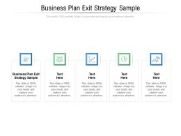 Business Plan Exit Strategy Sample Ppt Powerpoint Presentation File Mockup Cpb