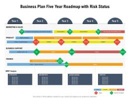 Business Plan Five Year Roadmap With Risk Status