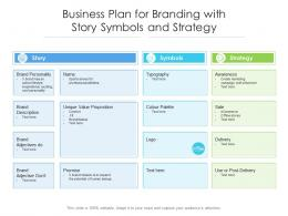 Business Plan For Branding With Story Symbols And Strategy
