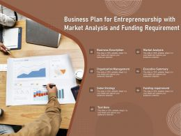 Business Plan For Entrepreneurship With Market Analysis And Funding Requirement