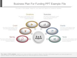 Business Plan For Funding Ppt Example File