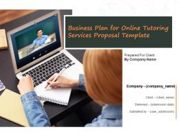 Business Plan For Online Tutoring Services Proposal Template Powerpoint Presentation Slides