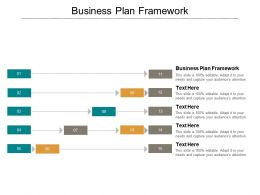 Business Plan Framework Ppt Powerpoint Presentation Gallery Background Designs Cpb