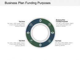 Business Plan Funding Purposes Ppt Powerpoint Presentation Icon Graphics Pictures Cpb