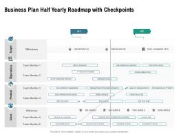 Business Plan Half Yearly Roadmap With Checkpoints