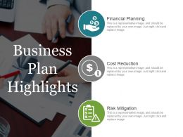 Business Plan Highlights Powerpoint Layout