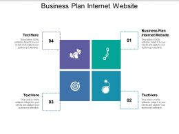 Business Plan Internet Website Ppt Powerpoint Presentation Outline Clipart Cpb