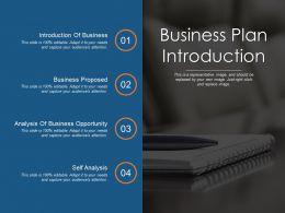 Business Plan Introduction Ppt Design Templates