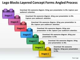 Business Plan Layered Concept Forms Angled Process Powerpoint Templates PPT Backgrounds Slides 7 Stages 0530