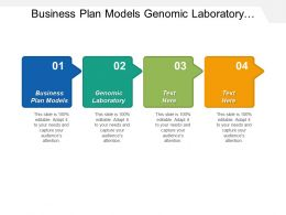 Business Plan Models Genomic Laboratory Application System Service Cpb