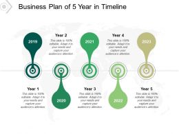 Business Plan Of 5 Year In Timeline