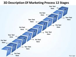 Business Plan Outline 3d Description Of Marketing Process 12 Stages Powerpoint Slides 0522