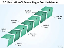 Business Plan Outline 3d Illustration Of Seven Stages Erectile Manner Powerpoint Slides 0522