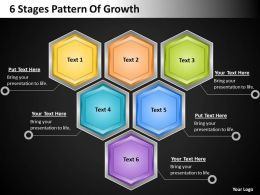 Business Plan Outline 6 Stages Pattern Of Growth Powerpoint Templates PPT Backgrounds For Slides