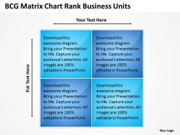 Business Plan Outline Chart Rank Units Powerpoint Templates PPT Backgrounds For Slides 0527