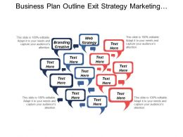 Business Plan Outline Exit Strategy Marketing Strategy Techniques Cpb