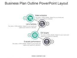 Business Plan Outline Powerpoint Layout