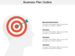 Business Plan Outline Ppt Powerpoint Presentation Gallery Sample Cpb