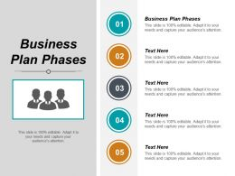 Business Plan Phases Ppt Powerpoint Presentation Slides Template Cpb