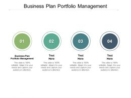 Business Plan Portfolio Management Ppt Powerpoint Presentation Pictures Graphics Design Cpb
