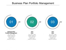 Business Plan Portfolio Management Ppt Powerpoint Presentation Slides Cpb