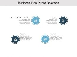 Business Plan Public Relations Ppt Powerpoint Presentation Outline Model Cpb