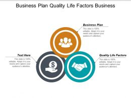Business Plan Quality Life Factors Business Planning Strategic Cpb