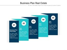 Business Plan Real Estate Ppt Powerpoint Presentation Infographic Template Deck Cpb