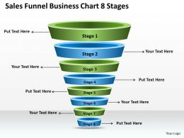 Business Plan Sales Funnel Chart 8 Stages Powerpoint Templates PPT Backgrounds For Slides 0530