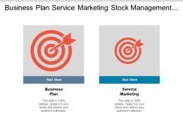Business Plan Service Marketing Stock Management Sponsorship Event Cpb