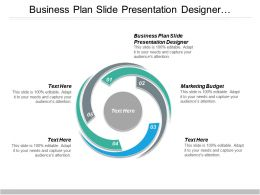 Business Plan Slide Presentation Designer Marketing Budget Business Keyword Cpb