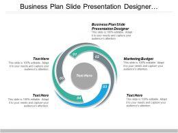 Business Plan Slide Presentation Designer Marketing Budget Business Keyword Cpb