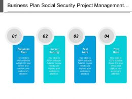 Business Plan Social Security Project Management 8 Sigma Manufacturing Cpb