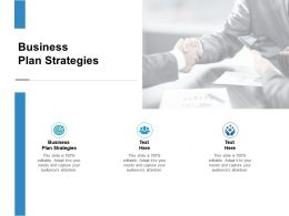 Business Plan Strategies Ppt Powerpoint Presentation Professional Deck Cpb
