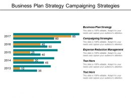 Business Plan Strategy Campaigning Strategies Expense Reduction Management Cpb