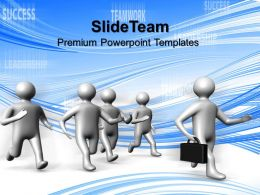 Business Plan Strategy Powerpoint Templates Man Running Success Global Ppt Design