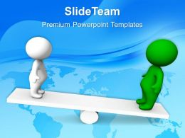 Business Plan Strategy Powerpoint Templates People On Seesaw Ppt Layouts