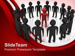Business Plan Strategy Templates Leader Team Leadership Teamwork Ppt Backgrounds Powerpoint