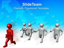 Business Plan Strategy Templates Man Running Leadership Graphic Ppt Backgrounds Powerpoint