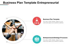 Business Plan Template Entrepreneurial Strategic Processes Top Practices Cpb