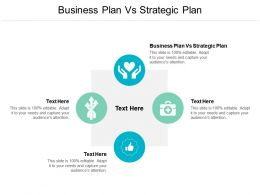 Business Plan Vs Strategic Plan Ppt Powerpoint Presentation Infographic Template Graphics Cpb