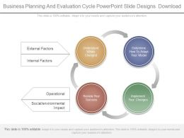 Business Planning And Evaluation Cycle Powerpoint Slide Designs Download
