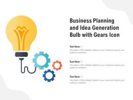 Business Planning And Idea Generation Bulb With Gears Icon