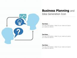 Business Planning And Idea Generation Icon