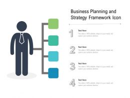 Business Planning And Strategy Framework Icon