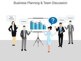 Business Planning And Team Discussion Powerpoint Images