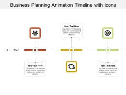 Business Planning Animation Timeline With Icons