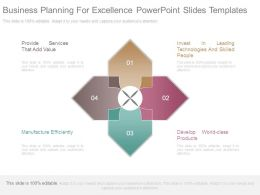 Business Planning For Excellence Powerpoint Slides Templates