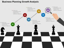 Business Planning Growth Analysis Flat Powerpoint Design